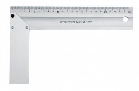 Asztalos derékszög, alumínium 350 mm