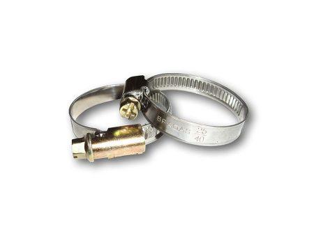 Csőbilincs csigamenetes, rozsdamentes W4/12 25-40mm (K100)